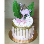 Торт для девочки с фламинго