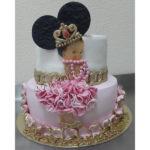 Большой торт для девочки с короной