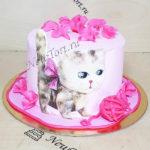 Торт котенок и клубок ниток