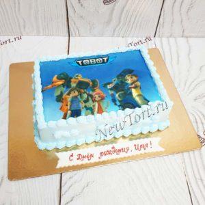 Торт  Тоботы с фотпечатью