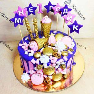 Торт с рожками на годик