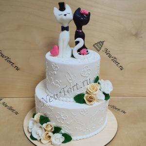 Свадебный торт с котятами СТ331