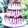 Свадебный торт без мастики СТ299