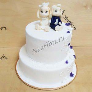 Свадебный торт с кроликами СТ372