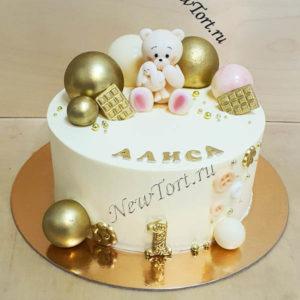 Торт с шарами на годик ТД49