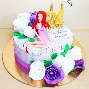 Торт женщина и розы ТЖ120