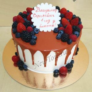 Торт ягодный с потеками ТГ101