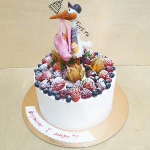 Торт с аистом я ягодами ТГ109