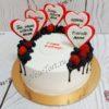 Торт с сердечками для мамы и жены ТЖ141