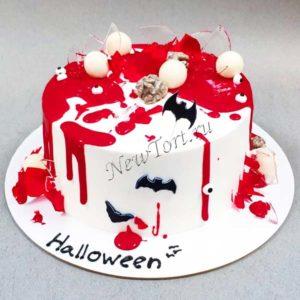 Торт на Хэллоуин с кровью